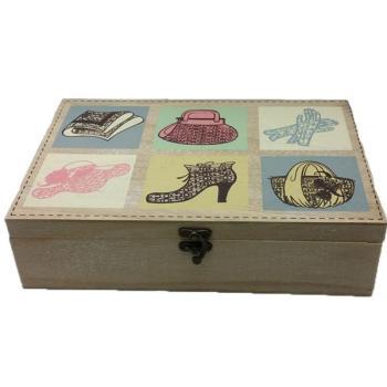 Vintage Διακοσμητικό κουτί ραπτικής ξύλινο με σίδερο 30.0 cm