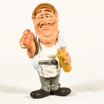 Διακοσμητικό Πολυεστερικό - Φιγούρα Πωλητής Hot Dog 9 cm