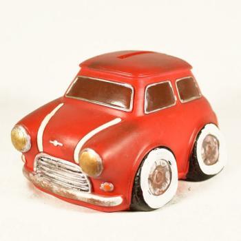 Διακοσμητικό Πολυεστερικό - Κουμπαράς MINI κόκκινο 14 cm