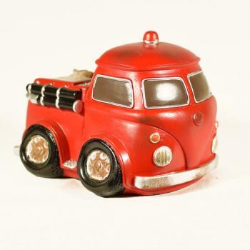 Διακοσμητικό Πολυεστερικό - Κουμπαράς Πυροσβεστικό κόκκινο 13.5 cm