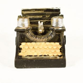 Vintage Διακοσμητικό μινιατούρα πολυεστερικό Γραφομηχανή 10,3 cm