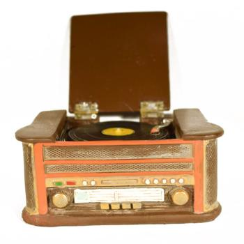 Vintage Διακοσμητικό μινιατούρα πολυεστερικό Γραμμόφωνο 14,7 cm