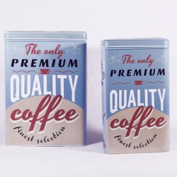 Μεταλλικό κουτί καφέ set 2 τεμ 20cm
