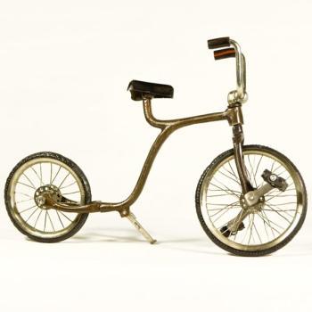 Vintage Διακοσμητικό μεταλλική μινιατούρα - Ποδήλατο Ακροβατικό 26 cm
