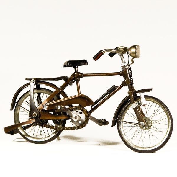 Vintage Διακοσμητικό μεταλλική μινιατούρα - Ποδήλατο Μεταλλικό 28 cm
