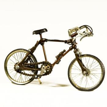 Vintage Διακοσμητικό μεταλλική μινιατούρα - Ποδήλατο Αθλητικό 28 cm