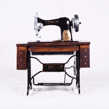 Vintage Διακοσμητικό Ραπτομηχανή Ποδιού Singer 20.0cm