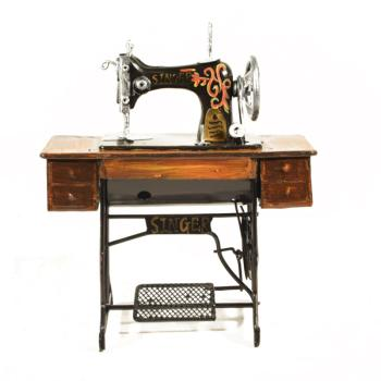 Vintage Διακοσμητικό Ραπτομηχανή με βάση 17.0 cm