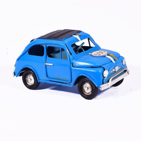 Vintage Διακοσμητικό Μπλε Αυτοκίνητο 11.0cm