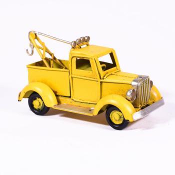 Vintage Διακοσμητικό Φορτηγάκι Κίτρινο 11.5cm