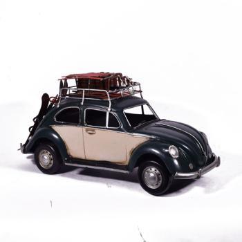 Vintage Διακοσμητικό Αμάξι Μπλέ Volkswagen 36.5 cm