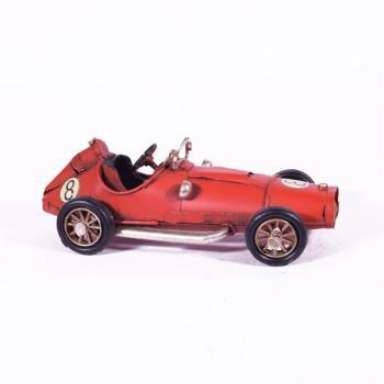Vintage Διακοσμητικό - Αυτοκίνητο Κούρσα Κόκκινο 16.0cm