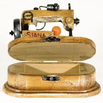 Vintage Διακοσμητικό μεταλλική μινιατούρα - Ραπτομηχανή Siana 14 cm