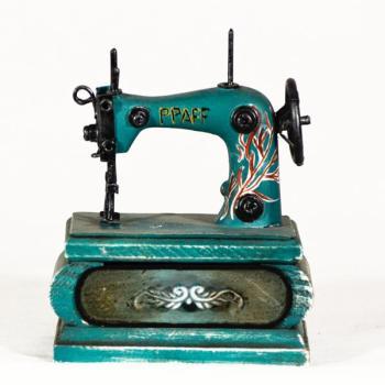 Vintage Διακοσμητικό μεταλλική μινιατούρα - Ραπτομηχανή Praff 13 cm