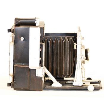 Vintage Μινιατούρα σιδερένια Φωτογραφική κάμερα επιτραπέζια 19.0 cm