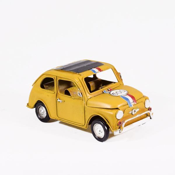 Vintage Διακοσμητικό Αυτοκίνητο Κίτρινο 16cm