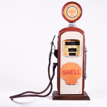 Vintage Διακοσμητικό Βενζιναντλία SHELL Κουμπαράς 30.0cm
