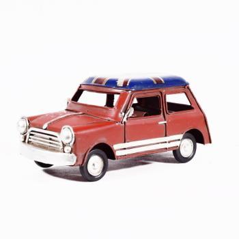 Vintage Διακοσμητικό Αυτοκίνητο Mini Κόκκινο 16cm