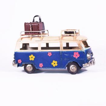 Vintage Διακοσμητικό - Μπλε Λεωφορείο Βαν 17.0cm