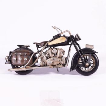 Vintage Διακοσμητικό μεταλλική μινιατούρα - Μαύρη Μηχανή 27.0cm