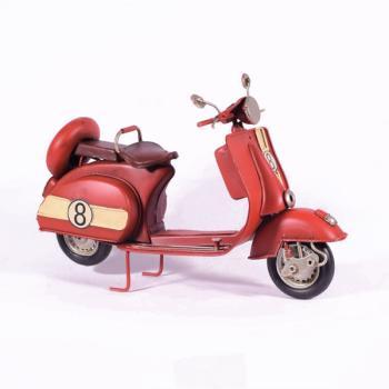 Vintage Διακοσμητικό μεταλλική μινιατούρα - Κόκκινη Βέσπα 26.0cm