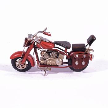 Vintage Διακοσμητικό μεταλλική μινιατούρα - Κόκκινη Μηχανή 20.0cm