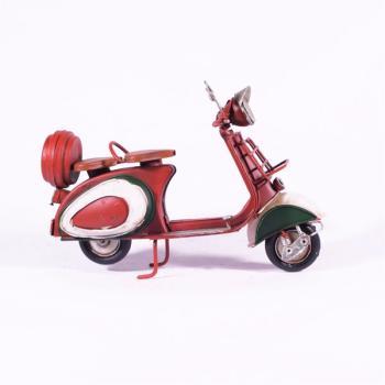 Vintage Διακοσμητικό μεταλλική μινιατούρα - Κόκκινη Βέσπα 18.0m