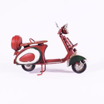 Vintage Διακοσμητικό μεταλλική μινιατούρα - Βέσπα Κόκκινη 12.5cm