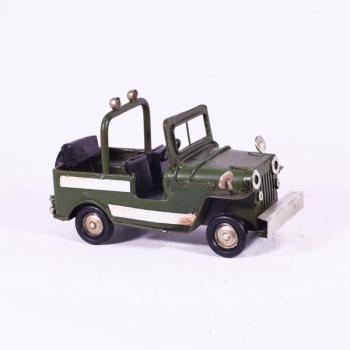 Vintage Διακοσμητικό - Πράσινο Τζιπ 11.0cm
