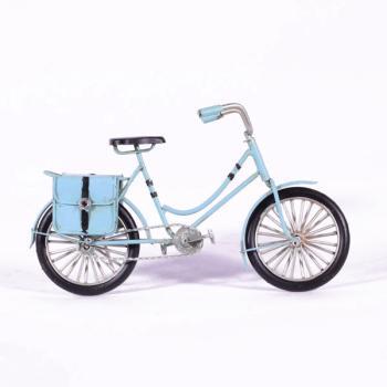 Vintage Διακοσμητικό μεταλλική μινιατούρα - Μεταλλικό Γαλάζιο Ποδήλατο 23.0 cm