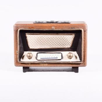 Vintage Διακοσμητικό Ραδιόφωνο 12.5cm