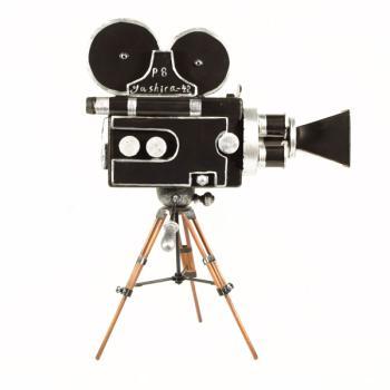 Vintage Διακοσμητικό Κινηματογραφική Μηχανή Τρίποδο 30.5 cm