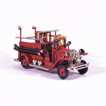 Vintage Διακοσμητικό μεταλλική μινιατούρα - Κόκκινο Πυροσβεστικό 17.0cm