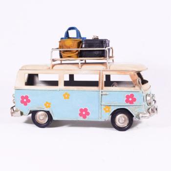 Vintage Διακοσμητικό - Γαλάζιο Λεωφορείο Βαν 17.0cm