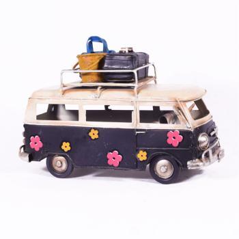 Vintage Διακοσμητικό - Μαύρο Λεωφορείο Βαν 17.0cm