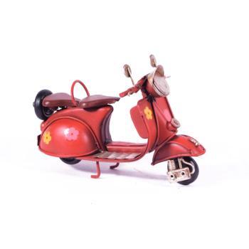 Vintage Διακοσμητικό μεταλλική μινιατούρα - Βέσπα Κόκκινη 11.5cm
