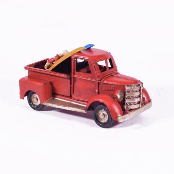 Vintage Διακοσμητικό - Φορτηγάκι με Surf Κόκκινο 11.0cm