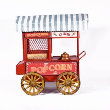 Vintage Διακοσμητικό Μηχανή Ποπ Κορν Κόκκινη 24.0cm