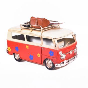 Vintage Διακοσμητικό - Λεωφορείο Βαν Κόκκινο 25.5cm