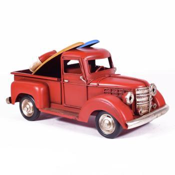 Vintage Διακοσμητικό - Φορτηγό με Surf Κόκκινο 25.0cm