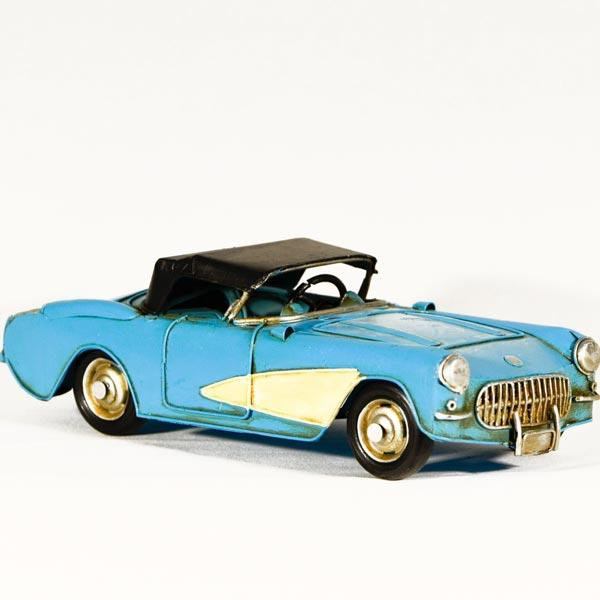 Vintage Διακοσμητικό μεταλλικό μινιατούρα - αυτοκίνητο Αντικέ 27cm