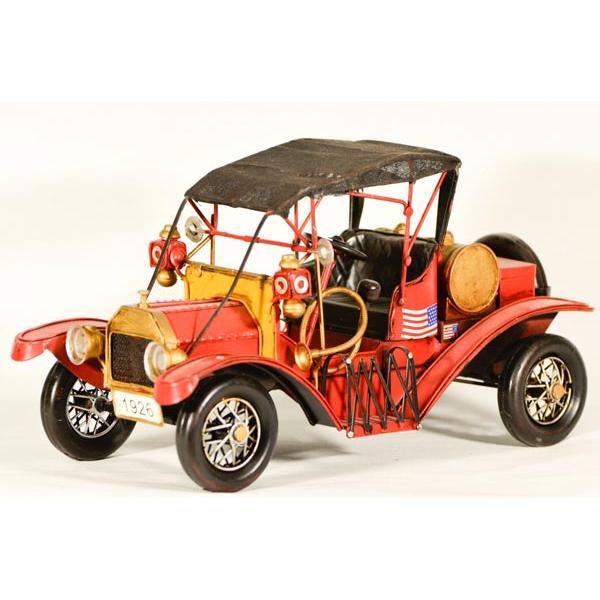 Vintage Διακοσμητικό μεταλλικό μινιατούρα - Κόκκινο Αυτοκίνητο Αντίκα 30.0 cm