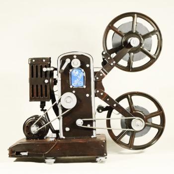 Vintage Διακοσμητικό μεταλλική μινιατούρα - Κινηματογραφική Μηχανή 30cm