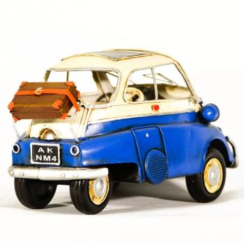 Vintage Διακοσμητικό μεταλλικό μινιατούρα - αυτοκίνητο Izeta 25cm