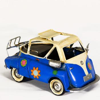Vintage Διακοσμητικό μεταλλική μινιατούρα - Isetta αυτοκίνητο 28cm