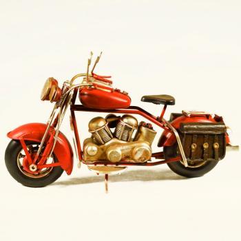 Vintage Διακοσμητικό μεταλλικό μινιατούρα - Μηχανή Κόκκινη 18.0 cm