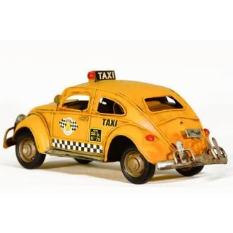 Vintage Διακοσμητικό μινιατούρα Σκαραβαίος Taxi Κίτρινο 25.0 cm