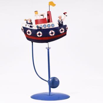 Vintage Διακοσμητικό Ισορροπιστής Βάρκα 32.0cm