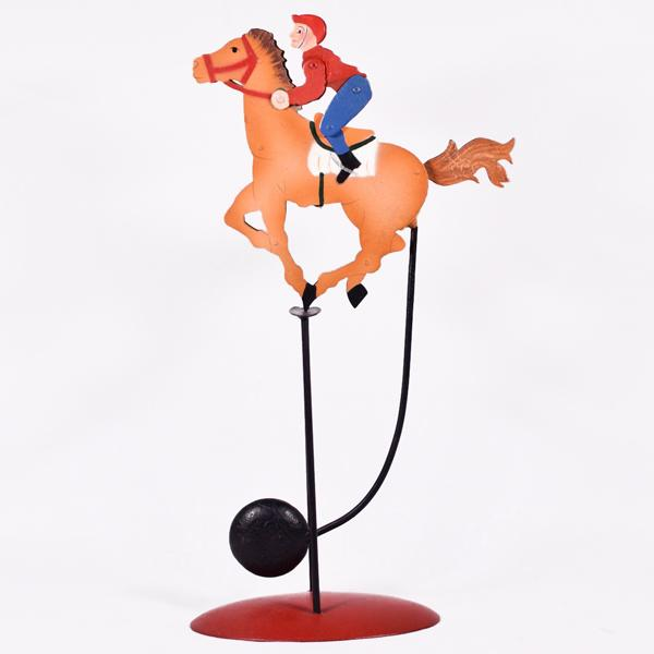 Vintage Διακοσμητικό Ισορροπιστής Άλογο Καβαλάρης 34.0cm