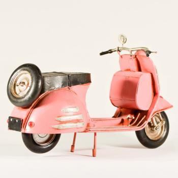 Vintage Διακοσμητικό μεταλλική μινιατούρα - Βέσπα Ροζ 30.0cm